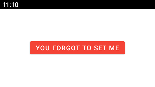 Button with text you forgot to set me